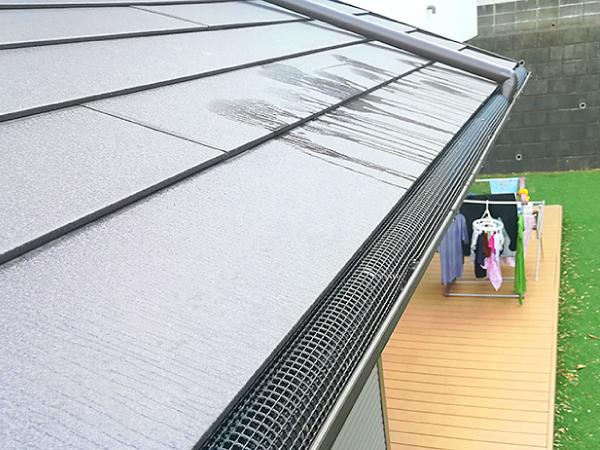 雨樋の着脱清掃と落ち葉除けネット設置工事が完了