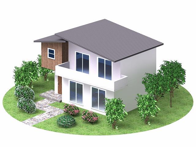 片流れ屋根のイメージ図