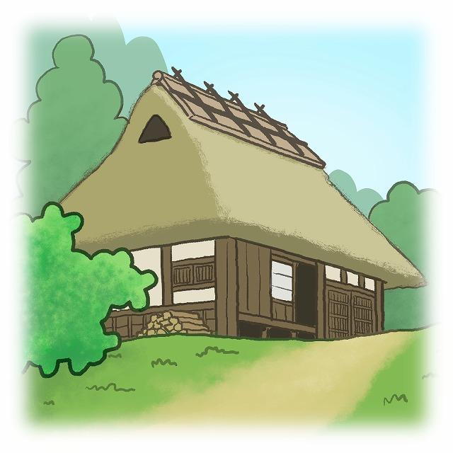 入母屋屋根イメージ図
