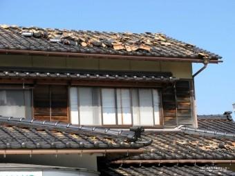災害時の屋根瓦落下