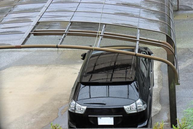 カーポート台風被害