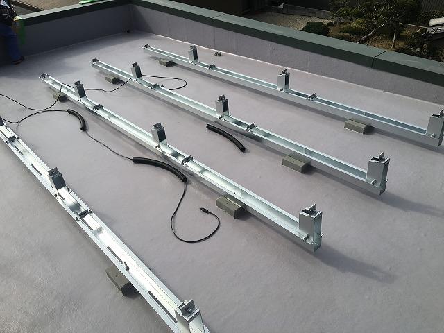 架台設置後配線