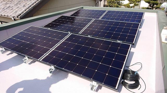 太陽光システム導入完了後