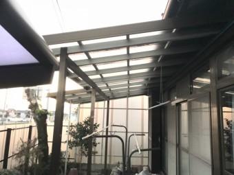 テラス屋根取替前の庭