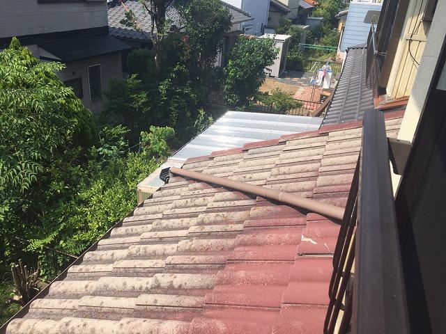 豊橋市神野新田周辺現地調査にて屋根の状態確認
