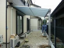 YKKのテラス屋根設置