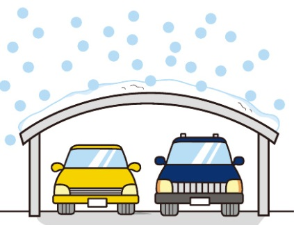 雨・雪除けになるカーポート