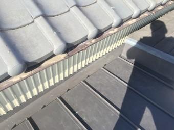 雨漏れ 金属屋根 工事後